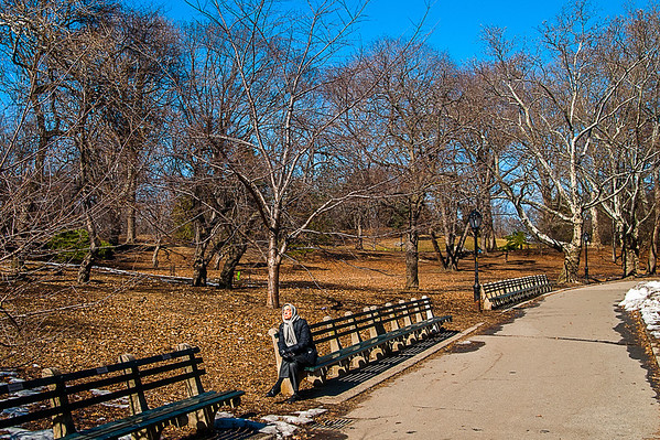 Soaking up some early spring rays in Central Park