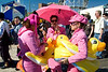 Pretty girls in pink with rubber duckies at the Coney Island Mermaid Parade.