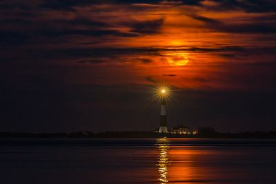 Moonrise Over Fire Island Lighthouse IV