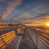 Sun Rising Over Long Beach Boardwalk, Long Beach