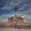 Fire Island Lighthouse In The Clouds