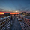 Sunset With Benches, Long Beach