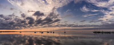 Bellport Bay Pano Sunrise