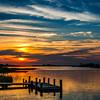 Oak Island Dock & Sunset
