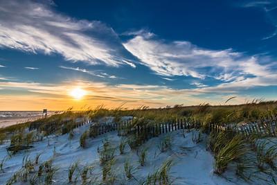 Dune Fence Sunset