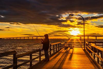 Captree Sunset Fishing