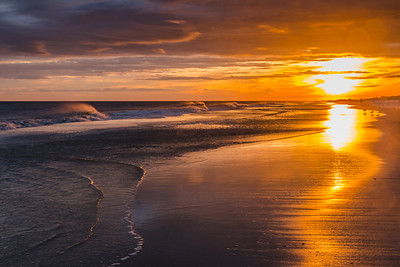 Beach Wave Sunset