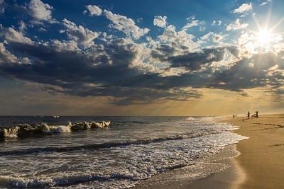Golden Beach Waves
