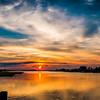 Oak Island Dock Sunset Pano