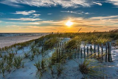 October Beach Sunset