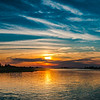 Oak Island Sunset Pano
