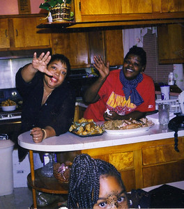 Jackie & Lorraine - This picture was taken during my going away party.  I was leaving for Boot Camp the following day.