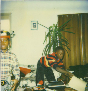 Picture taken on Christmas Day....Malcolm received a type writer & Jason was Voltron