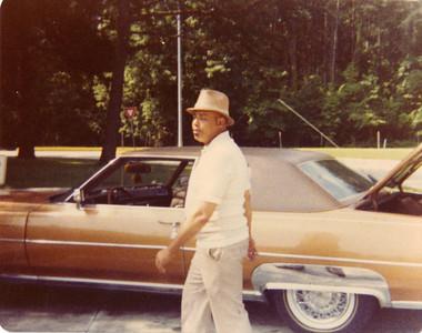 Joe Dishmon & his Cadillac luxury car