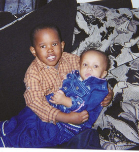 My newphew - Jason Jackson Jr. & his cousin Asia