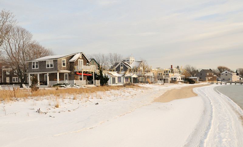 Snow fall blankets Orient Beach