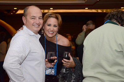 Receptions are a great time for sponsors to make a personal connection with potential clients.