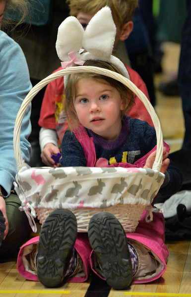 "Marlo Epstein, 3 1/2, waits for the egg hunt to begin  during the Easter Egg Hunt at the Longmont Memorial Center on Saturday sponsored by the White Fields Church.<br /> More photos:  <a href=""http://www.BoCoPreps.com"">http://www.BoCoPreps.com</a><br /> David R. Jennings/Staff Photographer<br /> March 26, 2016"