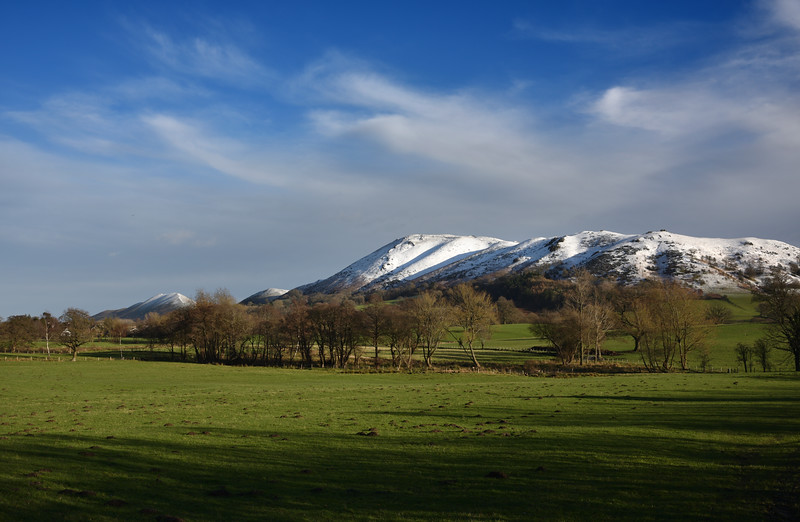 A view of the Stretton Hills.