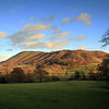 A view towards  the stretton Hills.