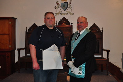 Bro. Matt and Worshipful Master Stan