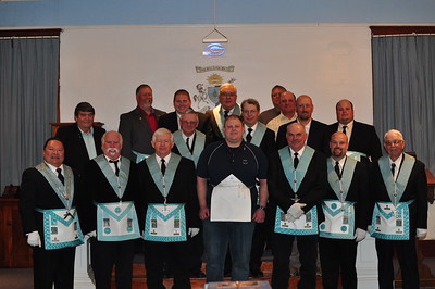 The gathered brethren together with EA Bro. Matt Wambold