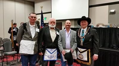 Silver Cord Lodge brethren: WBro. Wilbur Saner, WBro. Mike Hitchcock, WBro. Rick Carr & MWBro. Joe D. McBride
