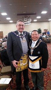 WBro. Alvin Benemerito with MWBro. Stanley Barclay, Past Grand Master of Manitoba