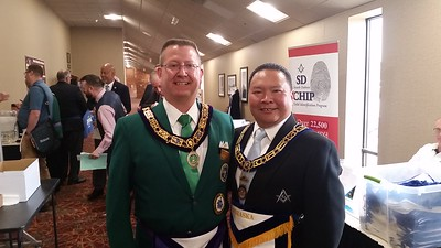 WBro. Alvin Benemerito with RWBro. Yancey Smith, Deputy Grand Master/Grand Master Elect of South Dakota