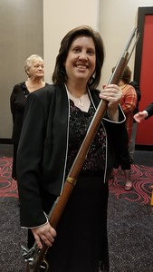 Shanda with a Musket