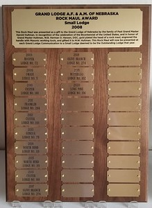 Traveling Plaque
