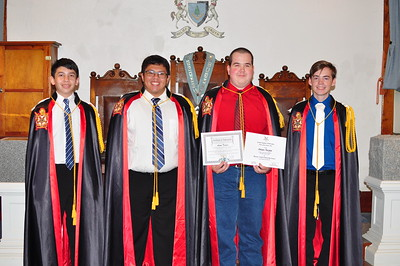 Adam with his DeMolay Brothers: (L-R) Dylan Benemerito, AJ Benemerito, Adam Turpin and Brandt Murphy