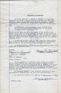 (1933) Assignment of Mortgage
