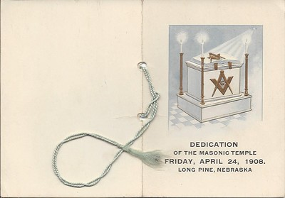 (1908) Invitation to the Temple Dedication