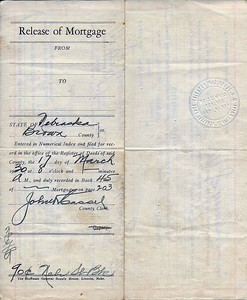 (1929) Release of Real Estate Mortgage