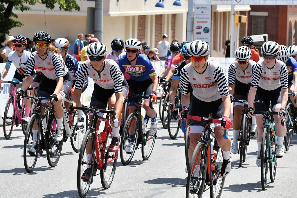 . Team Butcherbox had a large contingent in the Women\'s Pro race at the Longsjo Classic. Sentinel & Enterprise - Jim Fay