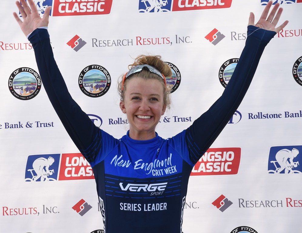 . Emma White was the Winner of the Women\'s Pro Division Race at the Longsjo Classic. Sentinel & Enterprise - Jim Fay
