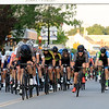 Riders come up West street in the Men's Pro Cat 1/2 race during the first day of the Longsjo Classic in Leominster on Saturday. SENTINEL & ENTERPRISE/JOHN LOVE