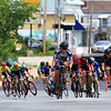 Riders in the Men's Cat 4/5 race that started the day off in Leominster ride up Mechanic Street during the Longsjo Classic on Saturday. SENTINEL & ENTERPRISE/JOHN LOVE