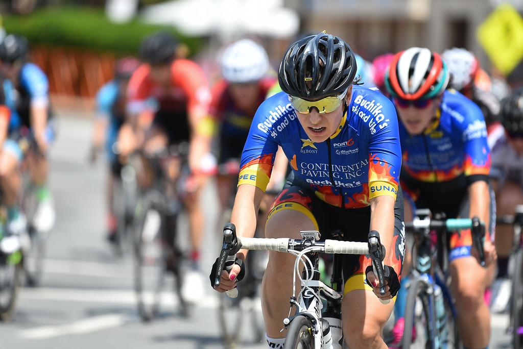 . The pro criterium of the 2018 Longsjo Classic in Fitchburg take to the streets on Sunday for a day of racing despite highs in the upper 90\'s.  SENTINEL & ENTERPRiSE JEFF PORTER
