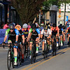 The peloton in the Women's Pro C 1/2 race rides up West Street during the first day of the Longsjo Classic on Saturday in Leominster. SENTINEL & ENTERPRISE/JOHN LOVE