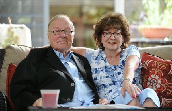 "Bob ""Gunner"" Gleason, a longtime Cambria County defense attorney, and his wife Linda, hang out on their back porch in Westmont. Linda has been his main caregiver since his stroke in February. He has made a remarkable recovery."