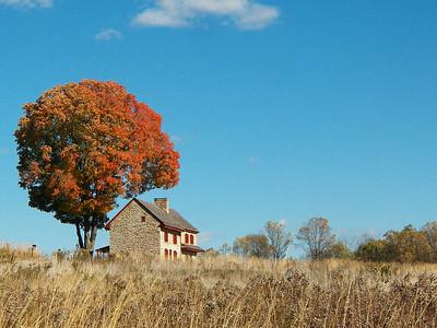 the Webb farmhouse
