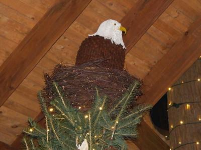 Bald Eagle Tree Topper, Lookout Loft treehouse