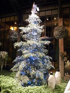 Silver room Christmas tree