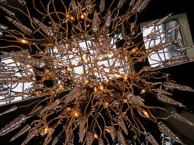 icicle chandelier in Exhibition Hall
