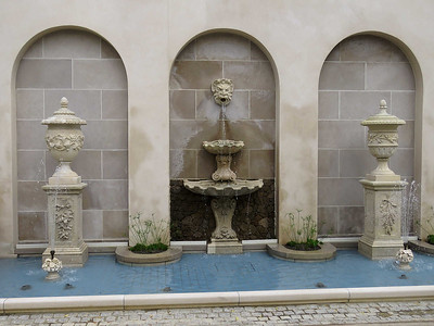 fountain garden wall