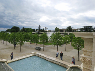the view across the Main Fountain Garden from above