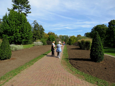 the Flower Garden Walk, prepared for bulb planting