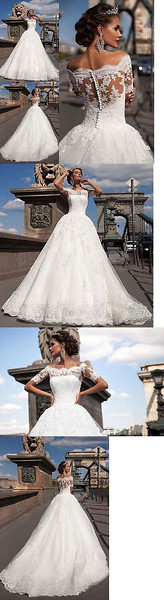 Wedding Dresses: New White/Ivory Lace Bridal Gown Wedding Dress Custom Size 4 6 8 10 12 14 16 18+